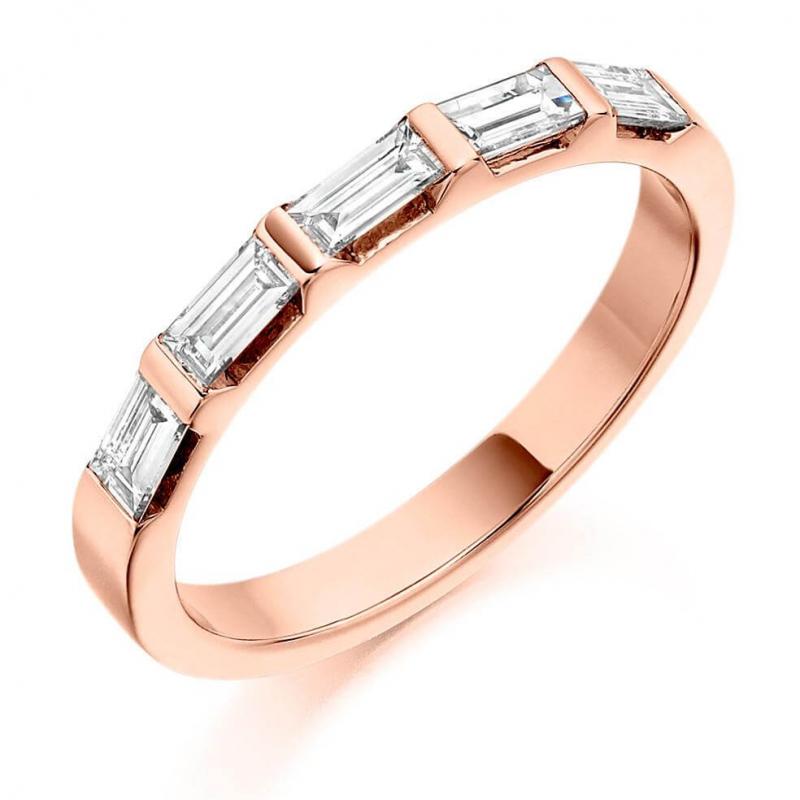 0.25 Carat Baguette Cut Diamond Wedding Band 10K Yellow