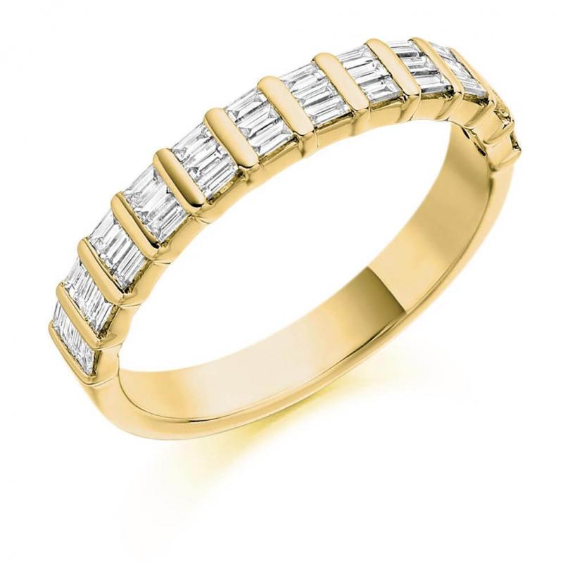 18ct White Gold 0.5ct Princess Cut Baguette Cut Diamonds