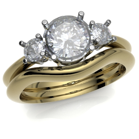 18ct Yellow Gold Curved to Fit Wedding Ring