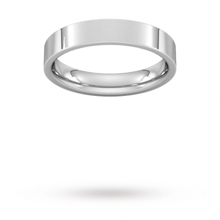 4mm Flat Top Court Shaped Wedding Ring