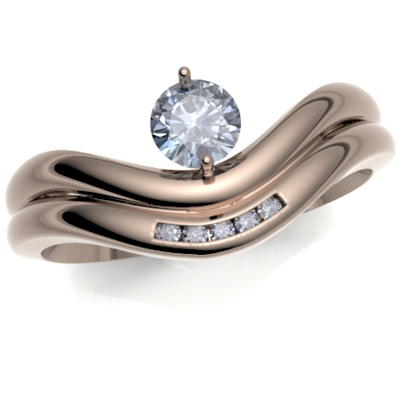 9ct Rose Gold Curved to Fit Wedding Ring