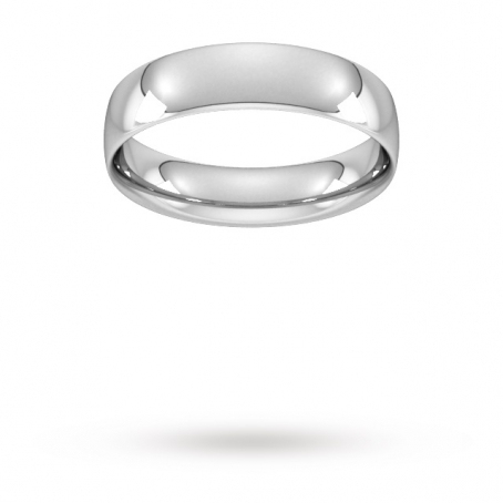 5mm Court Shaped Wedding Ring
