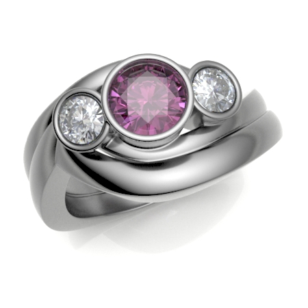 Platinum Shaped to Fit Wedding Ring