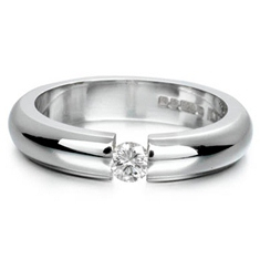 18ct White Gold Tension Set Diamond Wedding Ring
