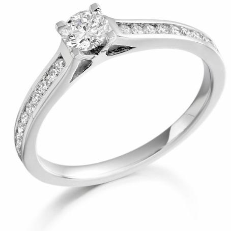 9ct White Gold Brilliant Cut Diamond Engagement Ring