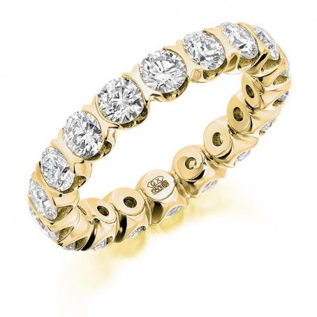 9ct Yellow Gold Diamond Kiss Wedding Ring