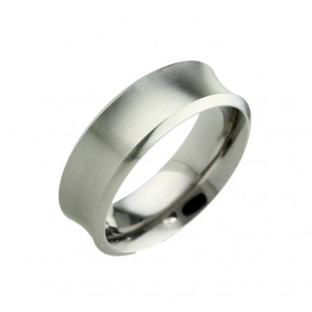 Titanium Concaved Wedding Ring
