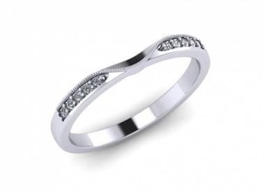 Platinum Diamond Set Wedding Ring