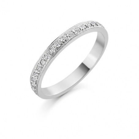 Palladium Diamond Set Wedding Rings