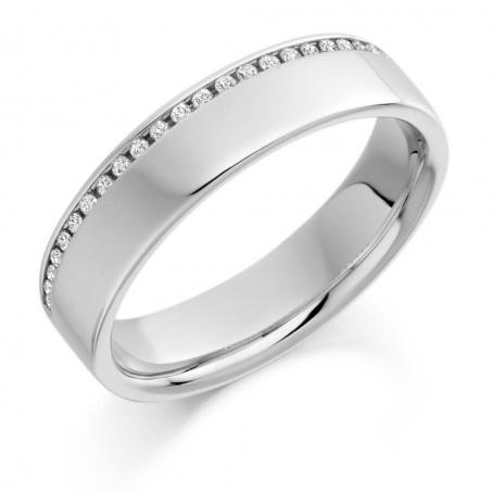 Palladium Brilliant Cut Diamond Wedding Ring