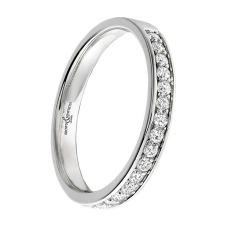 Platinum 2mm Pave Set Diamond Wedding Ring