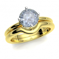 9ct Yellow Gold Shaped to Fit Wedding Ring