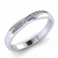 9ct White Gold Diamond Set Wedding Ring