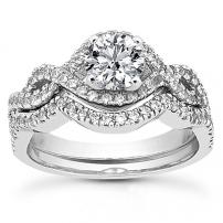 Platinum Engagement and Wedding Ring Set