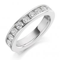 14ct White Gold Fully Set Brilliant Cut Wedding Ring