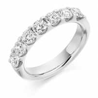 14ct White Gold Seven Stone Diamond Half Eternity Ring