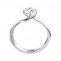 14ct White Gold Single Stone Twist Engagement Ring