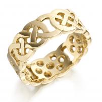 14ct Yellow Gold Celtic Wedding Ring