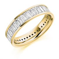 14ct Yellow Gold Full Set Baguette Cut Eternity Ring