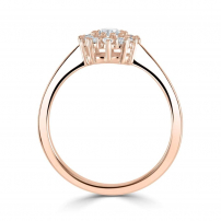 18ct Rose Gold Diamond Cluster Style Engagement Ring