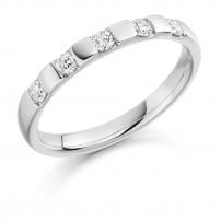 18ct White Gold Five Stone Diamond Wedding Ring