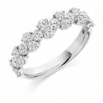 18ct White Gold Ladies Brilliant Cut Diamond Wedding Ring