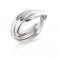 18ct White Gold Plain Court Russian Wedding Ring