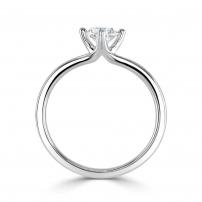 18ct White Gold Split Shank Single Stone Diamond Engagement Ring