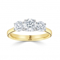 18ct Yellow and White Gold Three Stone Trilogy Ring