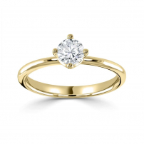 18ct Yellow Gold Brilliant Cut Diamond Engagement Ring