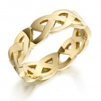 18ct Yellow Gold Celtic Knot Style Wedding Ring