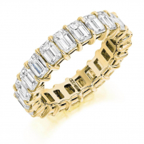 18ct Yellow Gold Full Set Emerald Cut Eternity Ring