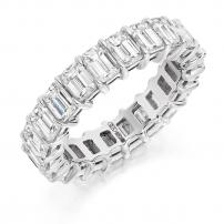 18ct Yellow Gold Full Set Emerald Cut Eternity Ring