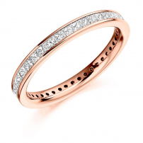 18ct Yellow Gold Fully Set Princess Cut Eternity Ring