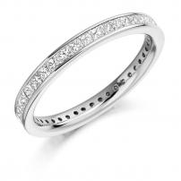 18ct Yellow Gold Fully Set Princess Cut Wedding Ring