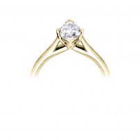 18ct Yellow Gold Single Stone Marquise Diamond Engagement Ring