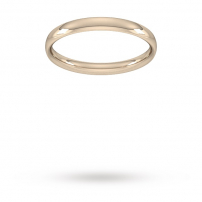 2.5mm Court Shaped Wedding Ring