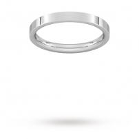 2.5mm Flat Top Court Shaped Wedding Ring
