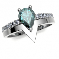 Platinum Wishone to Fit Wedding Ring