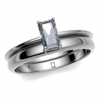 Palladium Cut out to Fit Wedding Ring