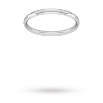 2mm Court Shaped Wedding Ring