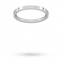 2mm Flat Top Court Shaped Wedding Ring