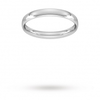 3mm Court Shaped Wedding Ring