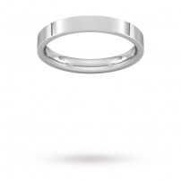3mm Flat Top Court Shaped Wedding Ring