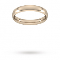 4mm Court Shaped Wedding Ring