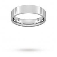 5mm Flat Top Court Shaped Wedding Ring