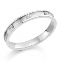 Palladium Diamond Wedding Ring