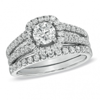 14K White Gold Diamond Matching Set