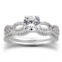 Palladium Diamond Set Wedding and Engagement Ring Set