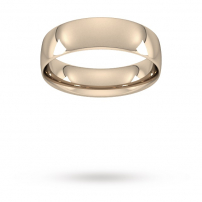 6mm Court Shaped Wedding Ring